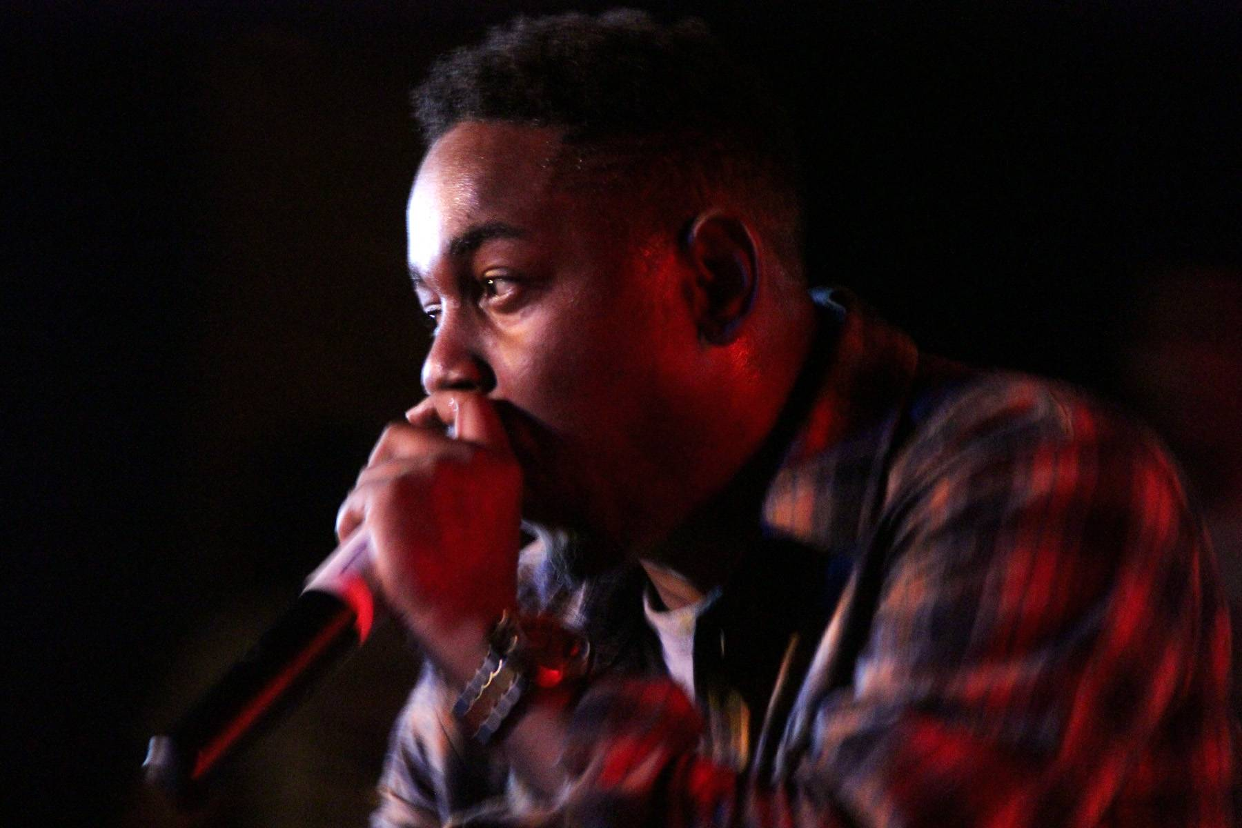 """""""Black Boy Fly"""" - This track alone justifies the extra three dollars for the deluxe edition of the album. Kendrick Lamar is at his introspective best, breaking down crabs-in-a-barrel jealousy and poignantly name-dropping Compton heroes the Game and Arron Afflalo over mournful Rhodes chords.  (Photo: Solomon Scott / BET)"""