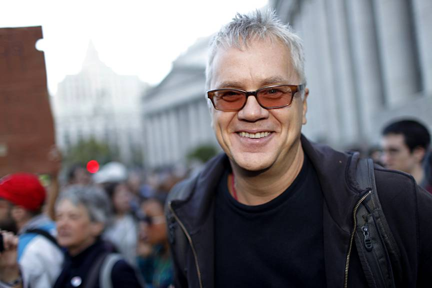 """Hollywood Supports  - """"I grew up a part of the 99 percent and I will never forget that. I?m here to support a real grassroots movement based in democratic thought that is developing its agenda through debate and consideration. The way it should be working in democracy,"""" actor Tim Robbins tells BET.com.(Photo: Raymond Haddad/BET.com)"""