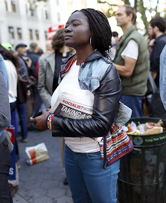 """Loans and More Loans - """"I?m here because I?m tired of paying more and more loans for an education that doesn?t necessarily guarantee me a job,"""" says second-year Doctoral Student at Columbia University, Akua Gyamerah.(Photo: Raymond Haddad/BET.com)"""