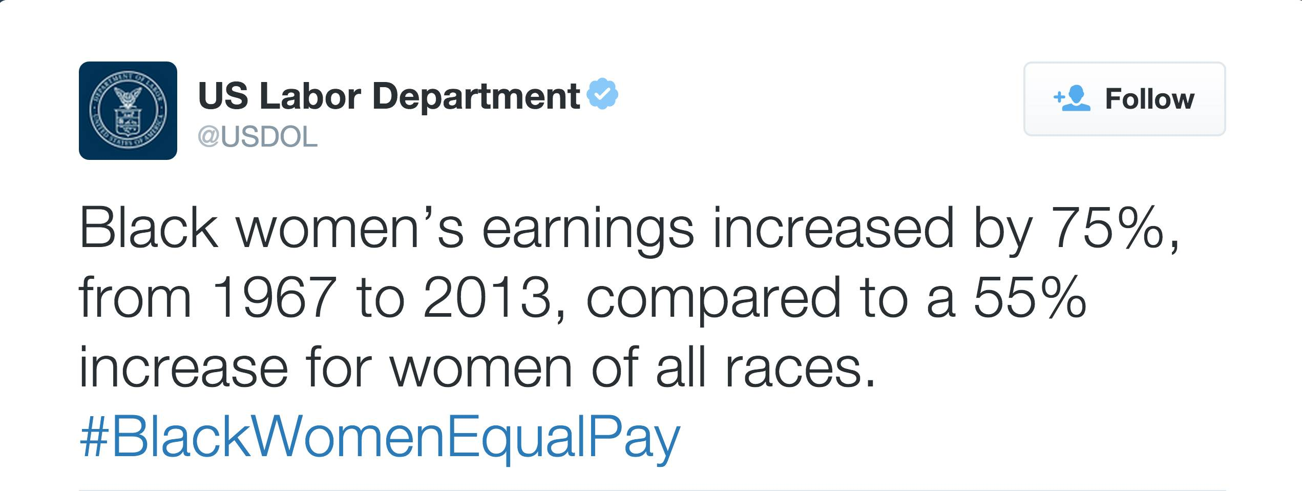 @USDOL - (Photo: US Labor Department via Twitter)