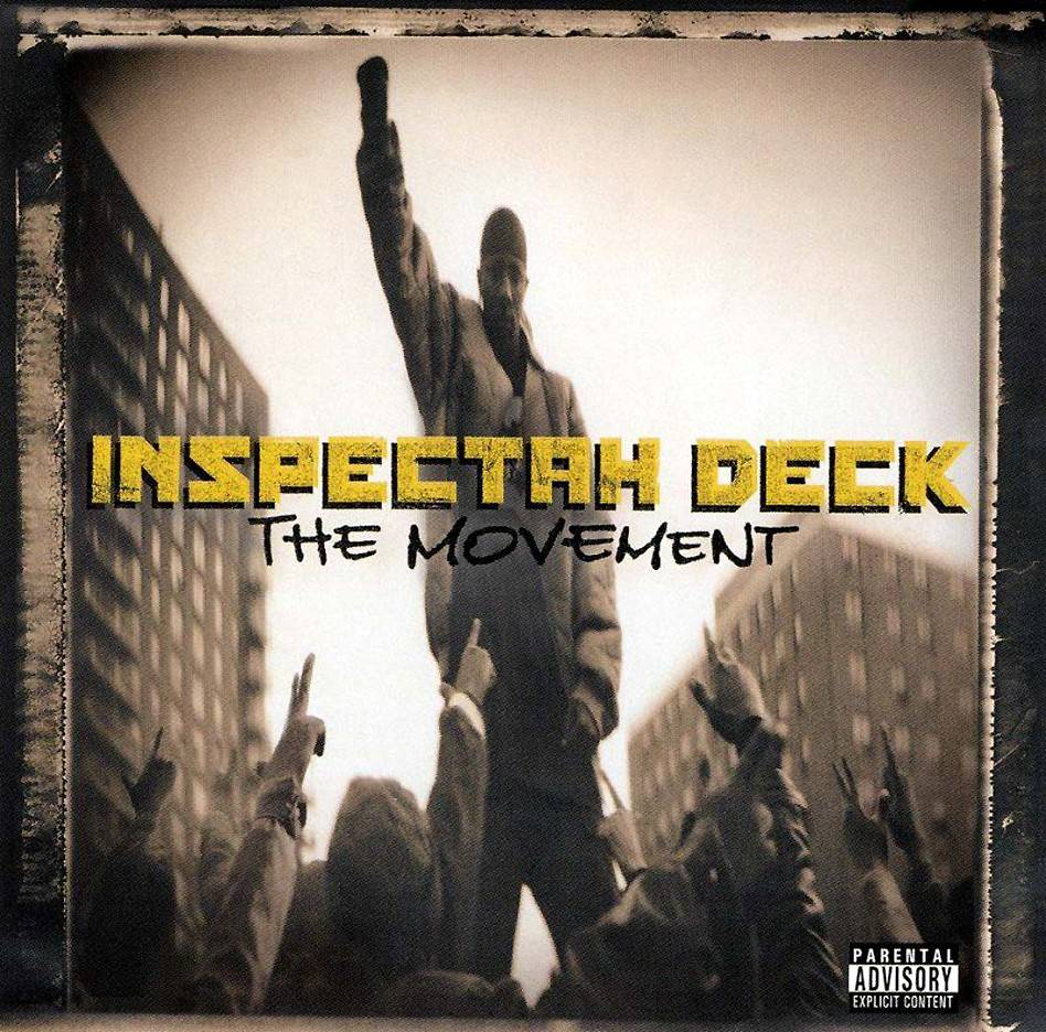 """31. Inspectah Deck ? The Movement (2003) - Don't ask Inspectah Deck to construct fluffy hooks to turn on the pop faithful. That much is clear from the bread and water choruses throughout The Movement. He's all meat and potatoes, verse-by-verse. (""""When I speak I hold the globe like the Dalai Lama..."""" Deck announces on """"Who Got It"""") No bigwig Wu cameos. No RZA beats. Just Deck being Deck. (Photo: Koch Records)"""
