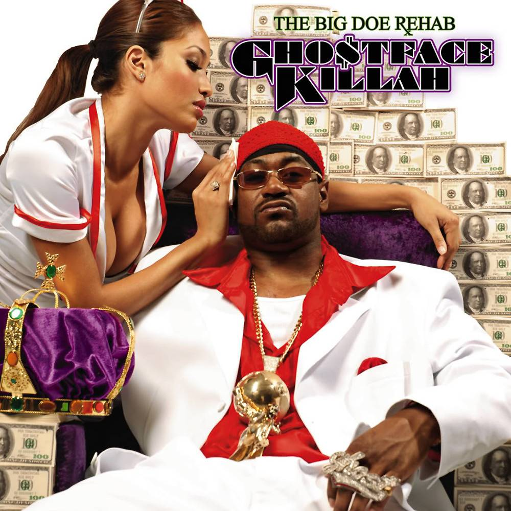"""12. Ghostface Killah ? The Big Doe Rehab (2007) - The weakest out of Ghostface's impressive six-year '00 run, The Big Doe Rehab is nevertheless solid. Hearing a paranoid Pretty Toney re-live a bloody shootout with a rival dealer on the violent, edge-of-your-seat track """"Walk Around"""" is worth a listen alone. (Photo: Def Jam)"""