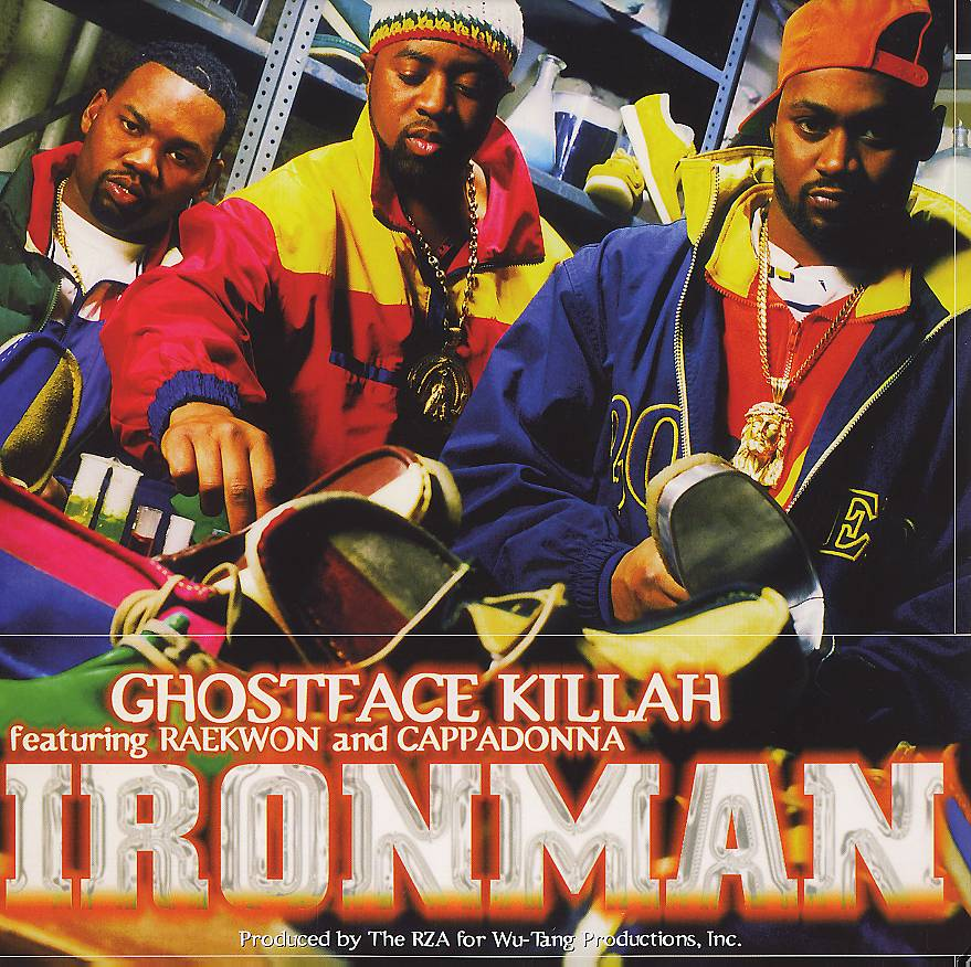 """4. Ghostface Killah ? Ironman (1996) - Big Ghost enters the Wu-solo sweepstakes and comes out with a winner. This is a record that hits on all levels mainly due to the lively rapper's larger-than-life command of the mic. You want heartbreaking street tales? Check out """"The Soul Controller."""" Straight up tearjerkers? """"All That I Got Is You"""" more than makes the cut. B-Boy inspired workouts? """"Daytona 500"""" goes hard. Ironman also works as Cappadonna's coming out party as a gracious Ghost allows the relentless newcomer to make the aforementioned """"Winter Warz"""" his rapping-his-ass-off showcase. (Photo: Epic Records)"""