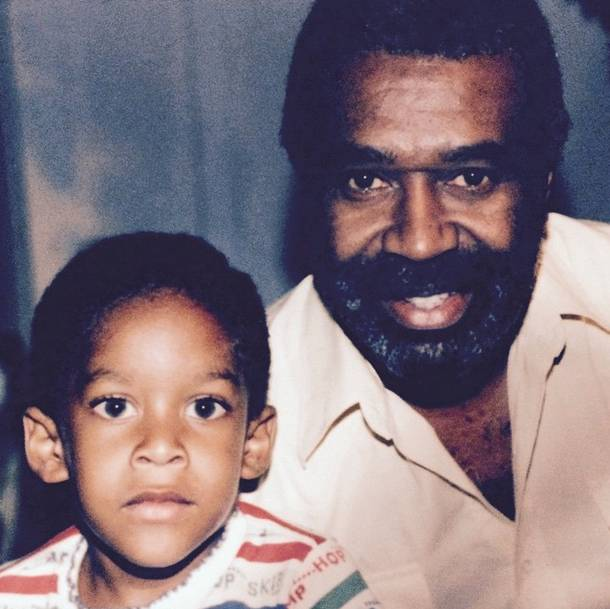 Ty Dolla $ign and His Granddad - Giving us a throwback moment, Ty Dolla $ign posts a picture of him and his late granddad.   (Photo: Ty Dolla $ign via Instagram)