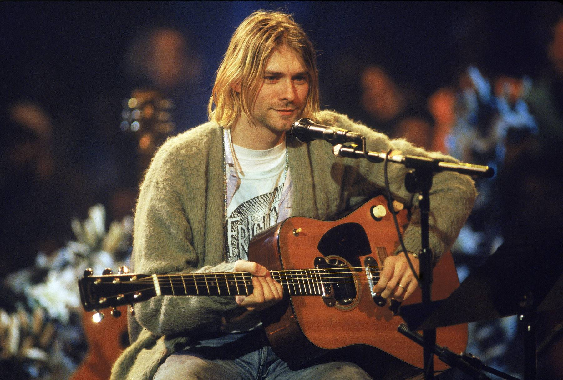 Kurt Cobain - The body of Nirvana frontman Kurt Cobain, who shot himself in the head after struggling with drug abuse and depression, was found on April 8, 1994.  (Photo: Frank Micelotta/Getty Images)