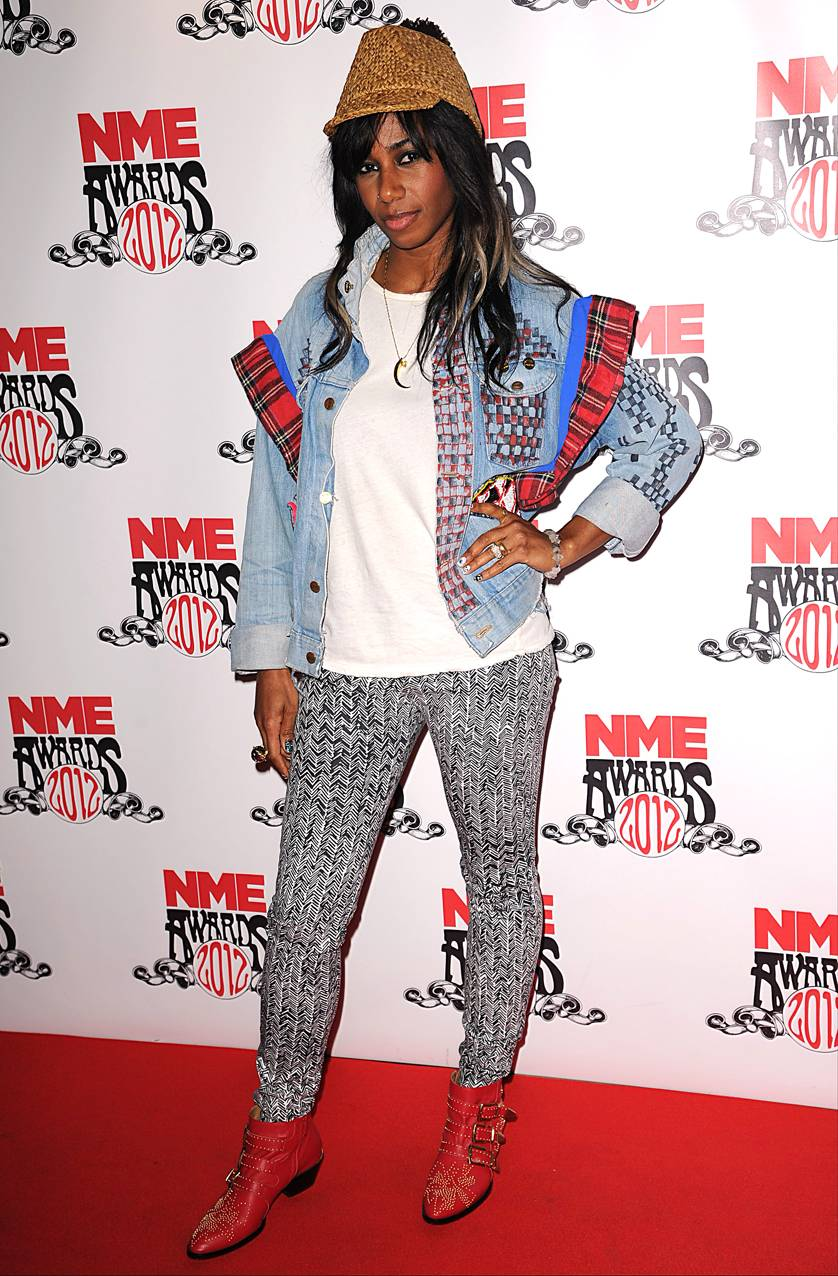 Patterned Princess - Growing up little girls are told never to mix and match prints, but when you're a daring young lady you do what you want, so plaid, stripes, and a lot of different colors can work. Look to Santigold for tips.   (Photo: PA PHOTOS/Landov)