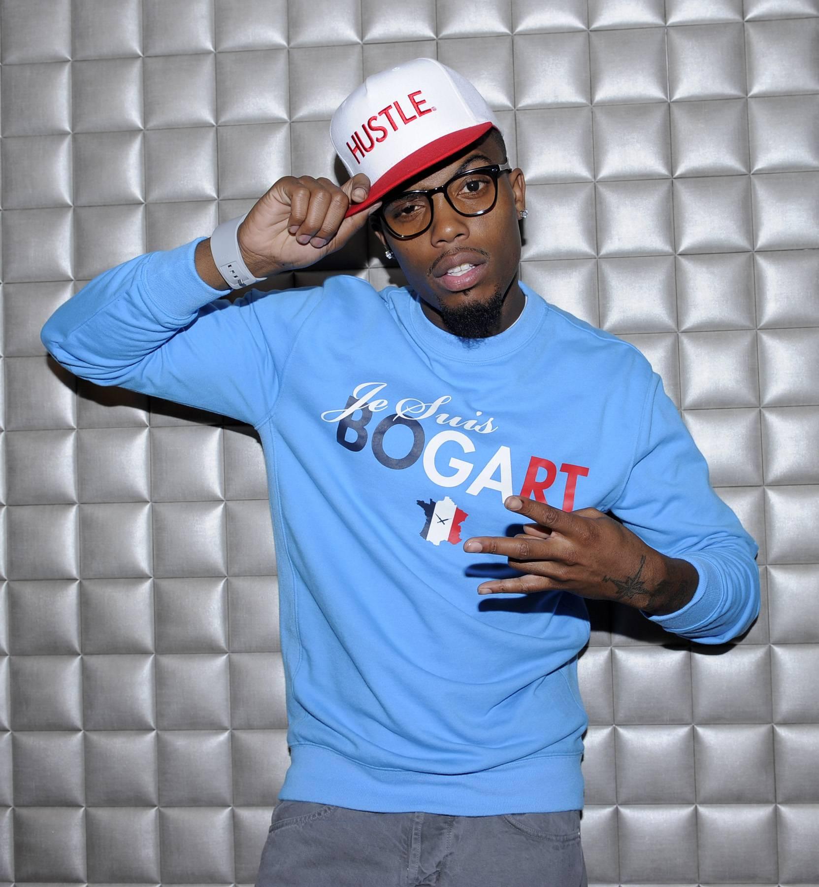 Salute - B.o.B in the green room at 106 & Park, May 1, 2012. (Photo: John Ricard / BET)