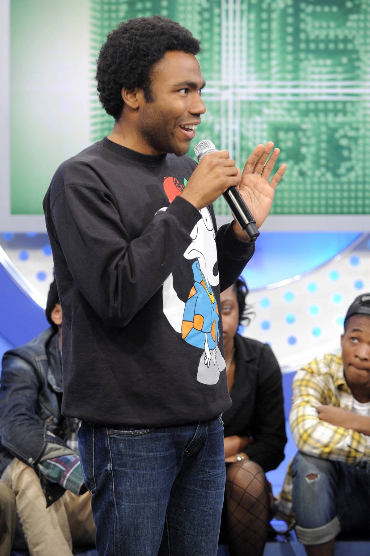 Who That? - Childish Gambino talks about how he always gets compared to other rappers at 106 & Park, May 1, 2012. (Photo: John Ricard / BET)