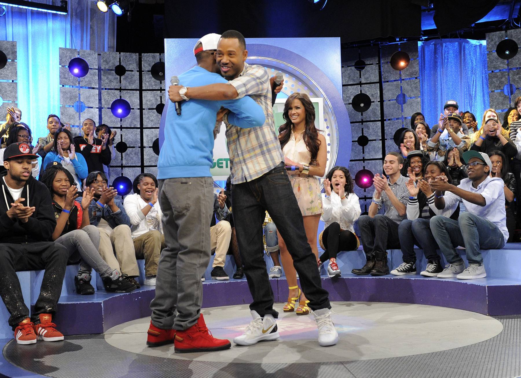 One Love - B.o.B takes the stage at 106 & Park, May 1, 2012. (Photo: John Ricard / BET)