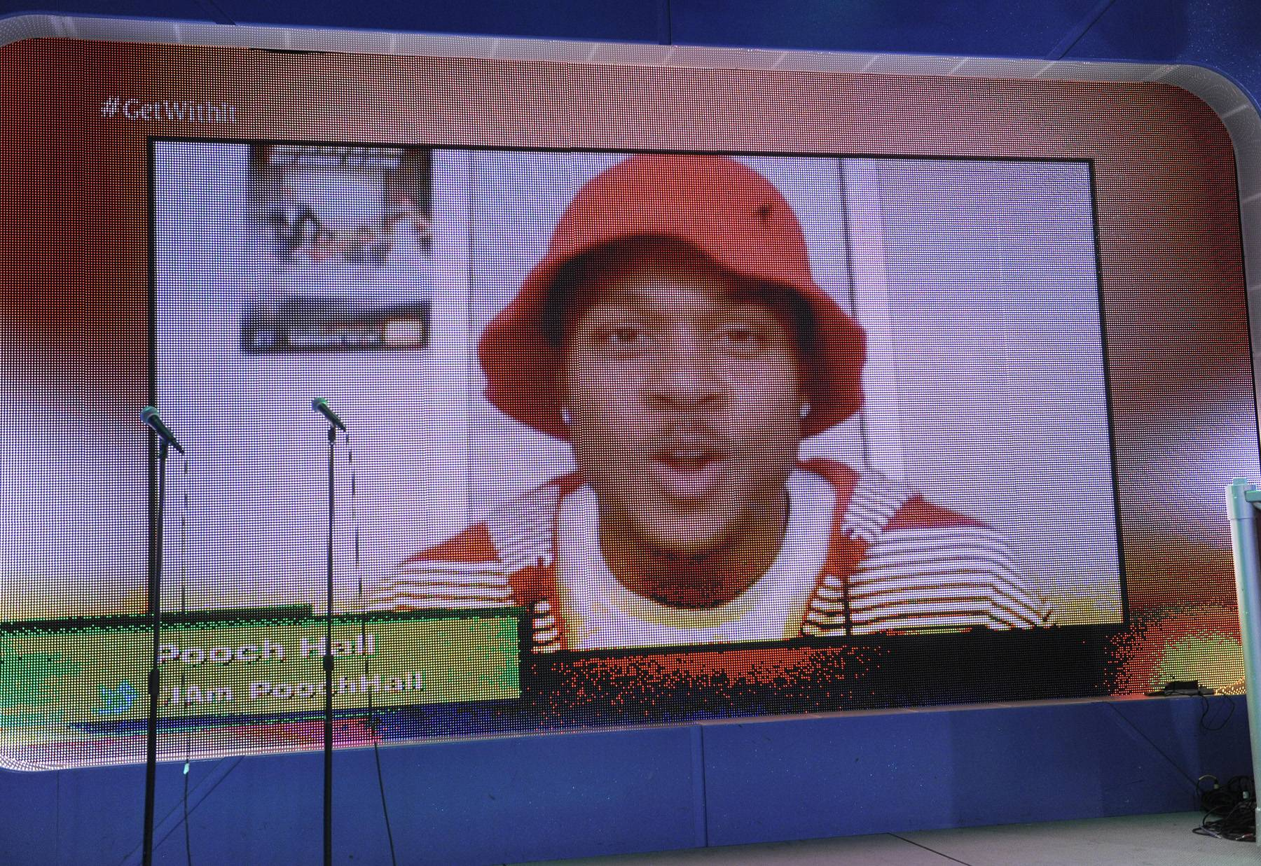 I See You - Terrence J and Rocsi Diaz video chat with Pooch Hall about tonights episode of The Game at 106 & Park, May 1, 2012. (Photo: John Ricard / BET)