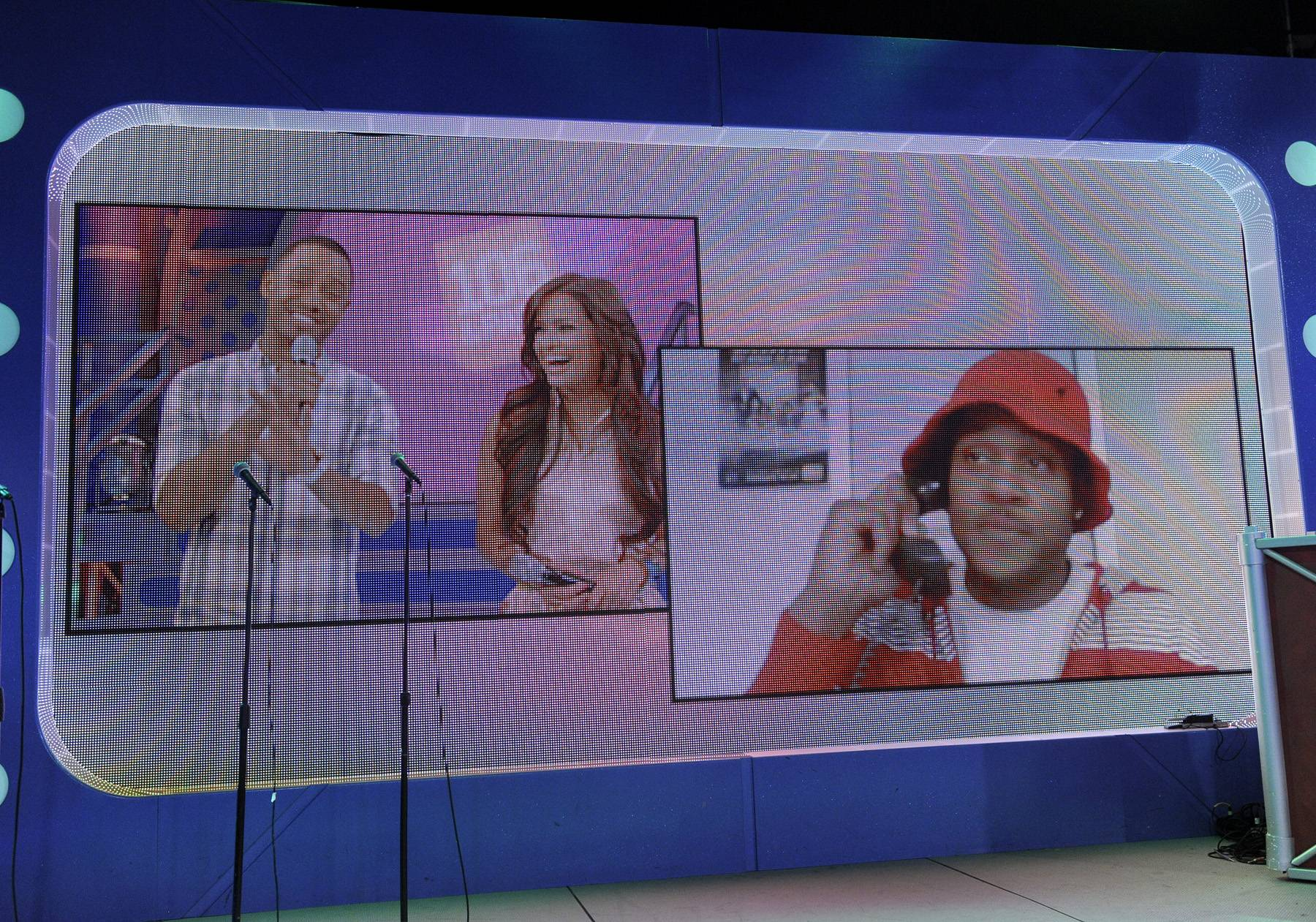Beam Me Up - Terrence J and Rocsi Diaz video chat with Pooch Hall about tonights episode of The Game at 106 & Park, May 1, 2012. (Photo: John Ricard / BET)