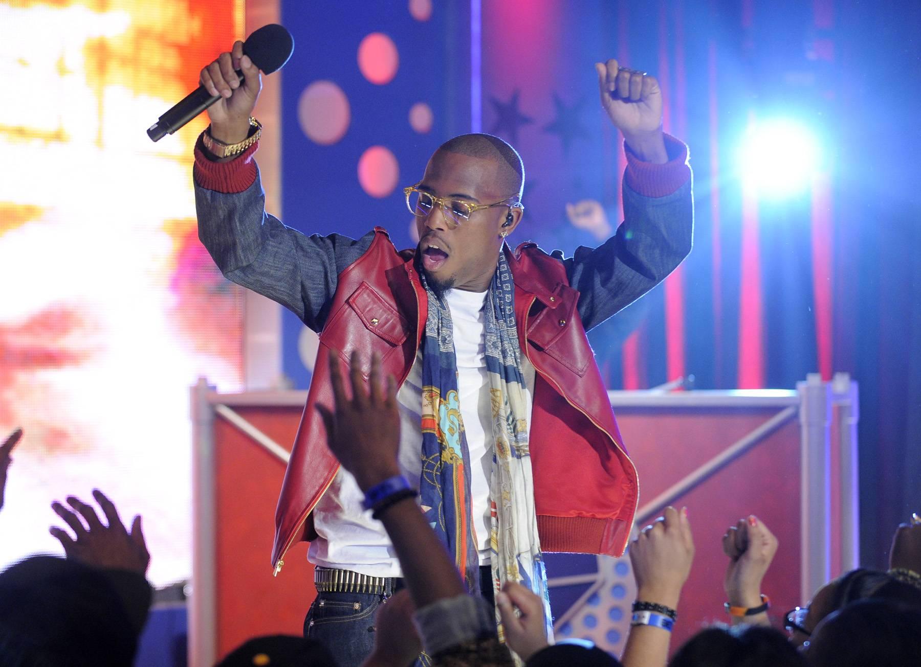 Stage Presence - B.o.B performs at 106 & Park, May 1, 2012. (Photo: John Ricard / BET)