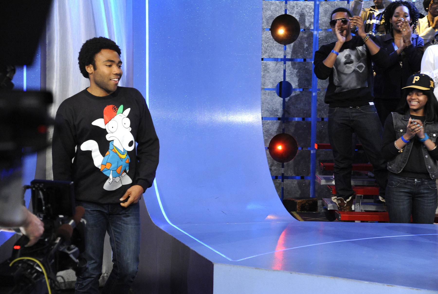 Come On Up - Childish Gambino takes the stage at 106 & Park, May 1, 2012. (Photo: John Ricard / BET)