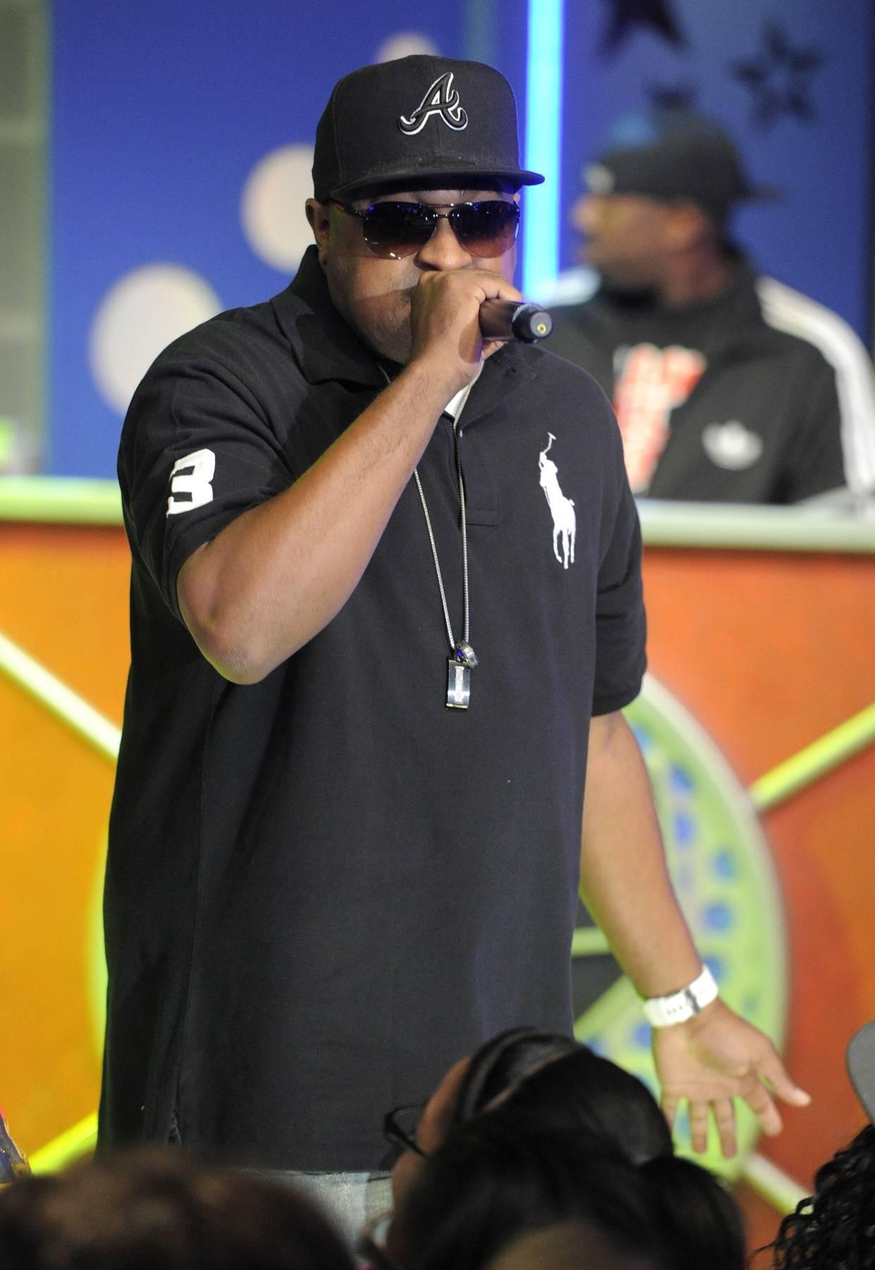 Say It Loud - B.o.B performs at 106 & Park, May 1, 2012. (Photo: John Ricard / BET)