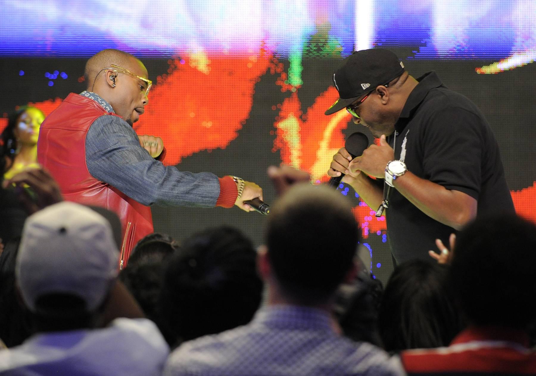 Move It - B.o.B performs at 106 & Park, May 1, 2012. (Photo: John Ricard / BET)