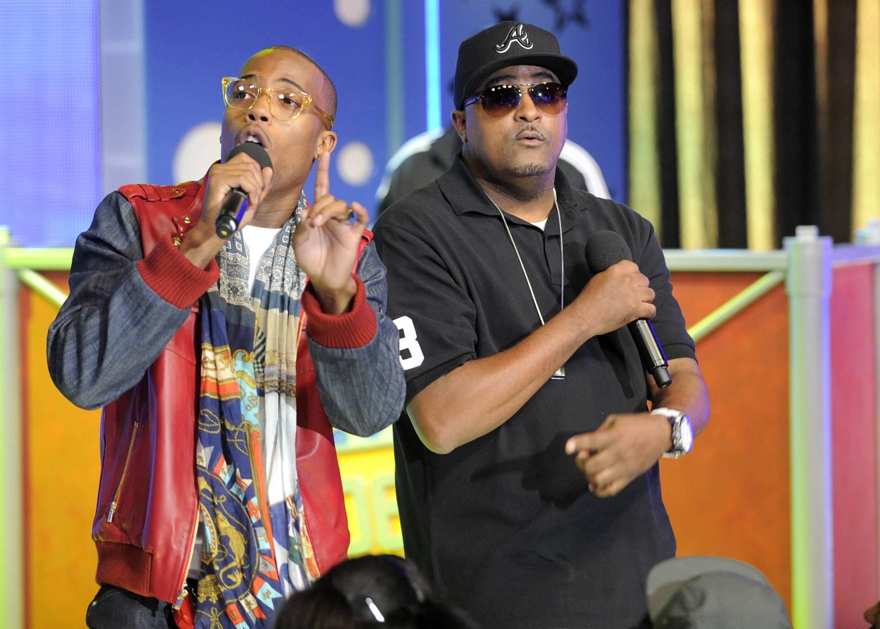 Who Dat - B.o.B performs at 106 & Park, May 1, 2012. (Photo: John Ricard / BET)