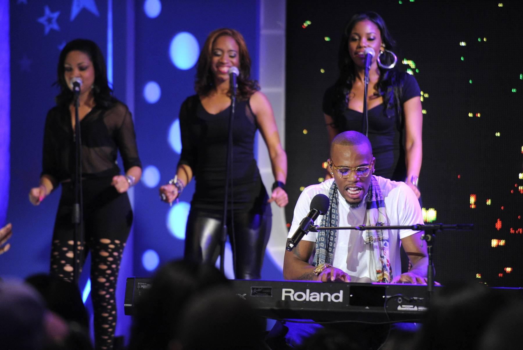 A Full Performance - B.o.B performs at 106 & Park, May 1, 2012. (Photo: John Ricard / BET)