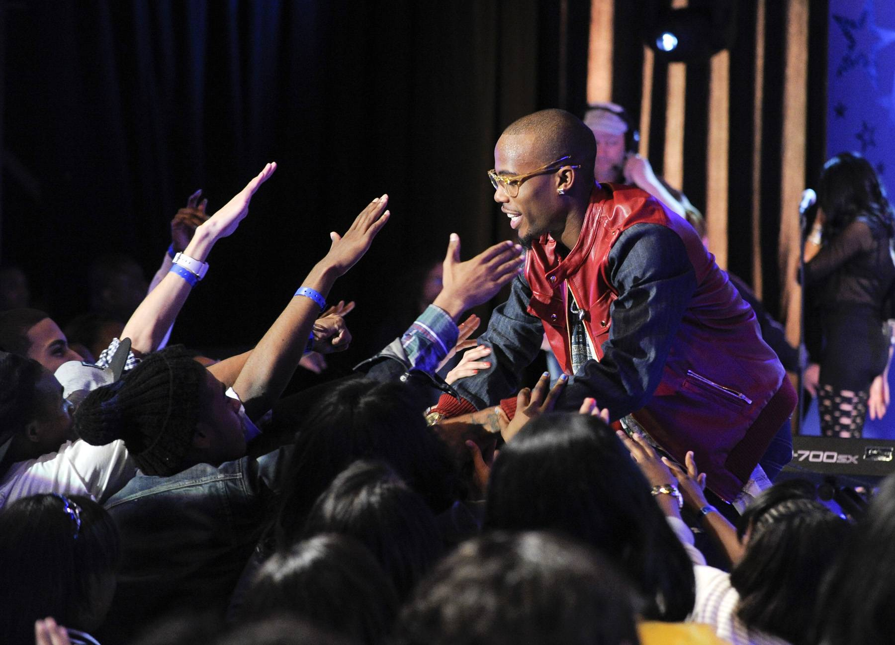 Bobby Ray is in the Building! - B.o.B performs at 106 & Park, May 1, 2012. (Photo: John Ricard / BET)
