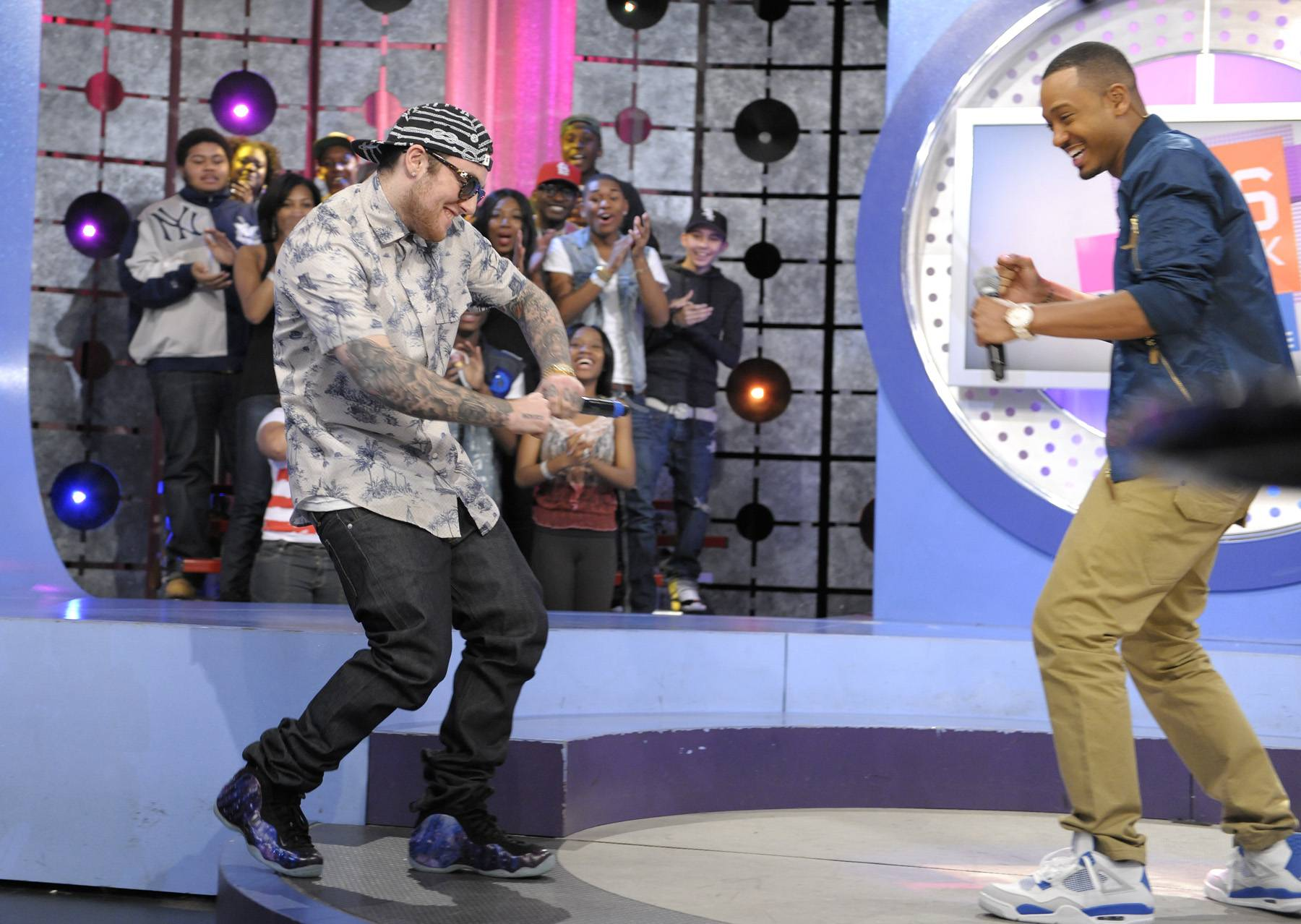 Lets Get It - Mac Miller takes the stage at 106 & Park, April 26, 2012. (Photo: John Ricard / BET)