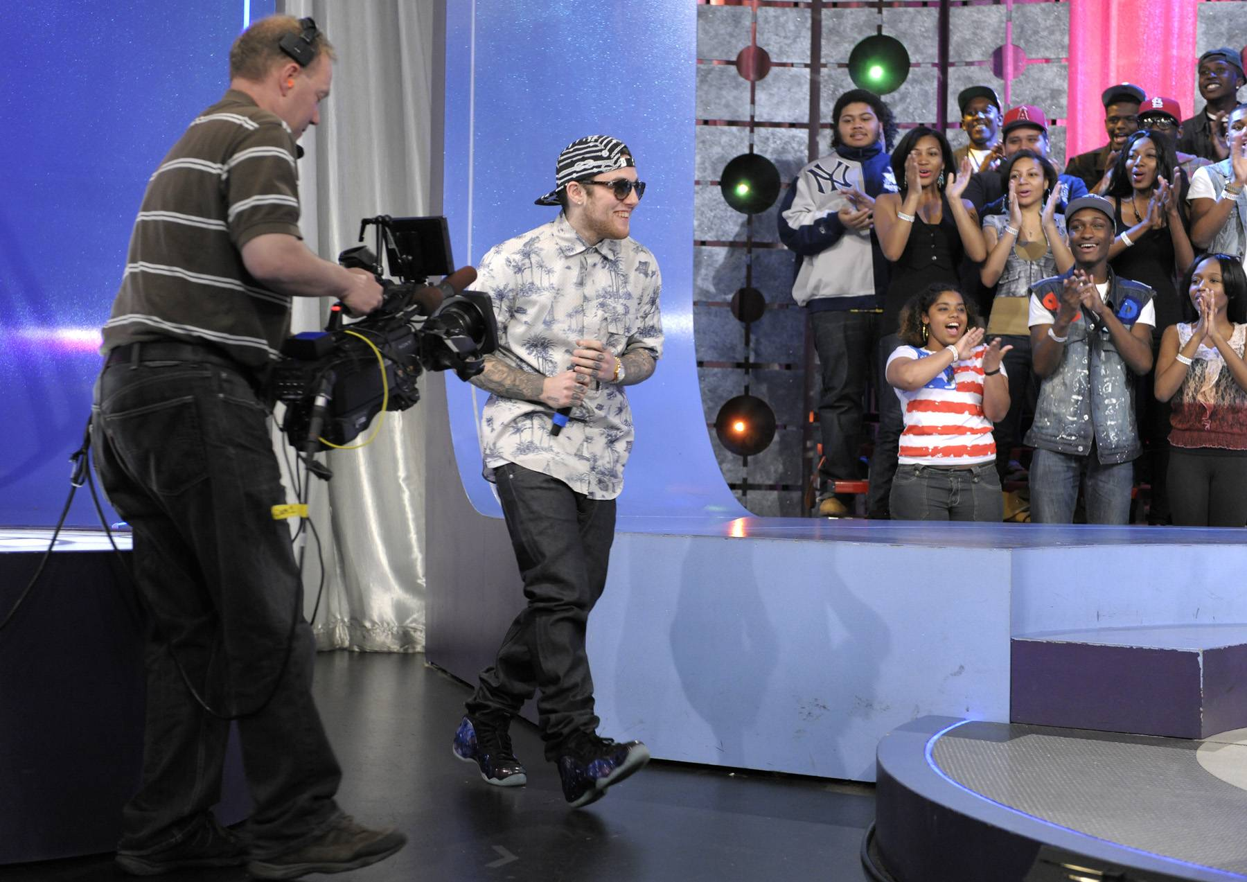 Step Right Up - Mac Miller takes the stage at 106 & Park, April 26, 2012. (Photo: John Ricard / BET)