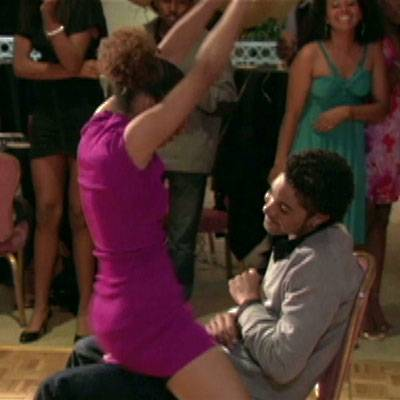 Lap Dance - Staci gets the party started and gives Earl a lapdance.