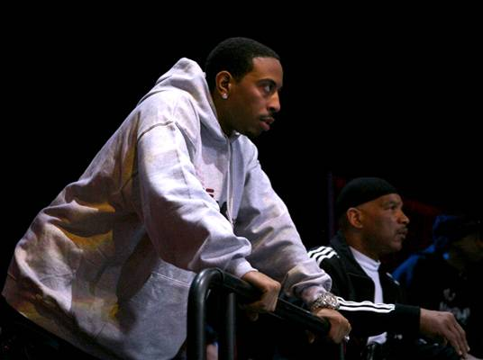 Team Luda - Ludacris watches the action as the fighters on his team train.