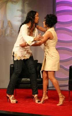 Keyshia Cole Reunion - Ananda welcomes Keyshia to the stage.