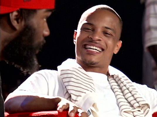 T.I. - T.I. shows off his pearly whites.
