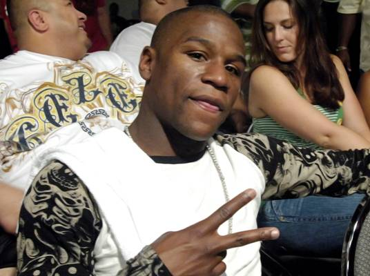 Pretty Boy - Boxing champion Floyd Mayweather won't be entering the ring this time.