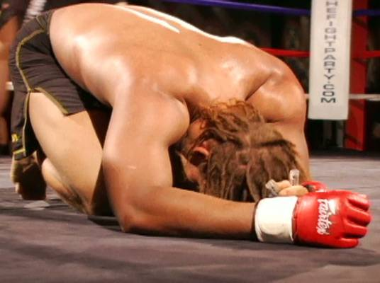 The Face of Defeat - After his loss, Mendez's opponent takes a minute in the ring to compose himself.