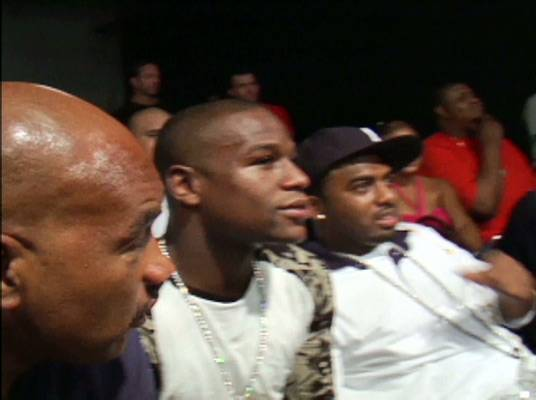 Ringside Seat - Team owner Floyd Mayweather is on hand for the next bout.