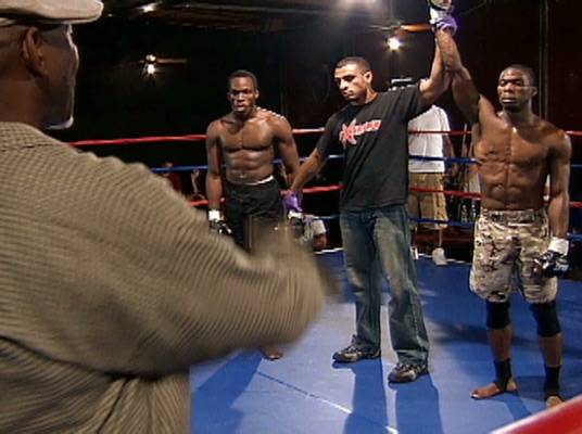 Goldsby Wins - Lightweight fighter, Goldsby, wins! Height isn't everything!
