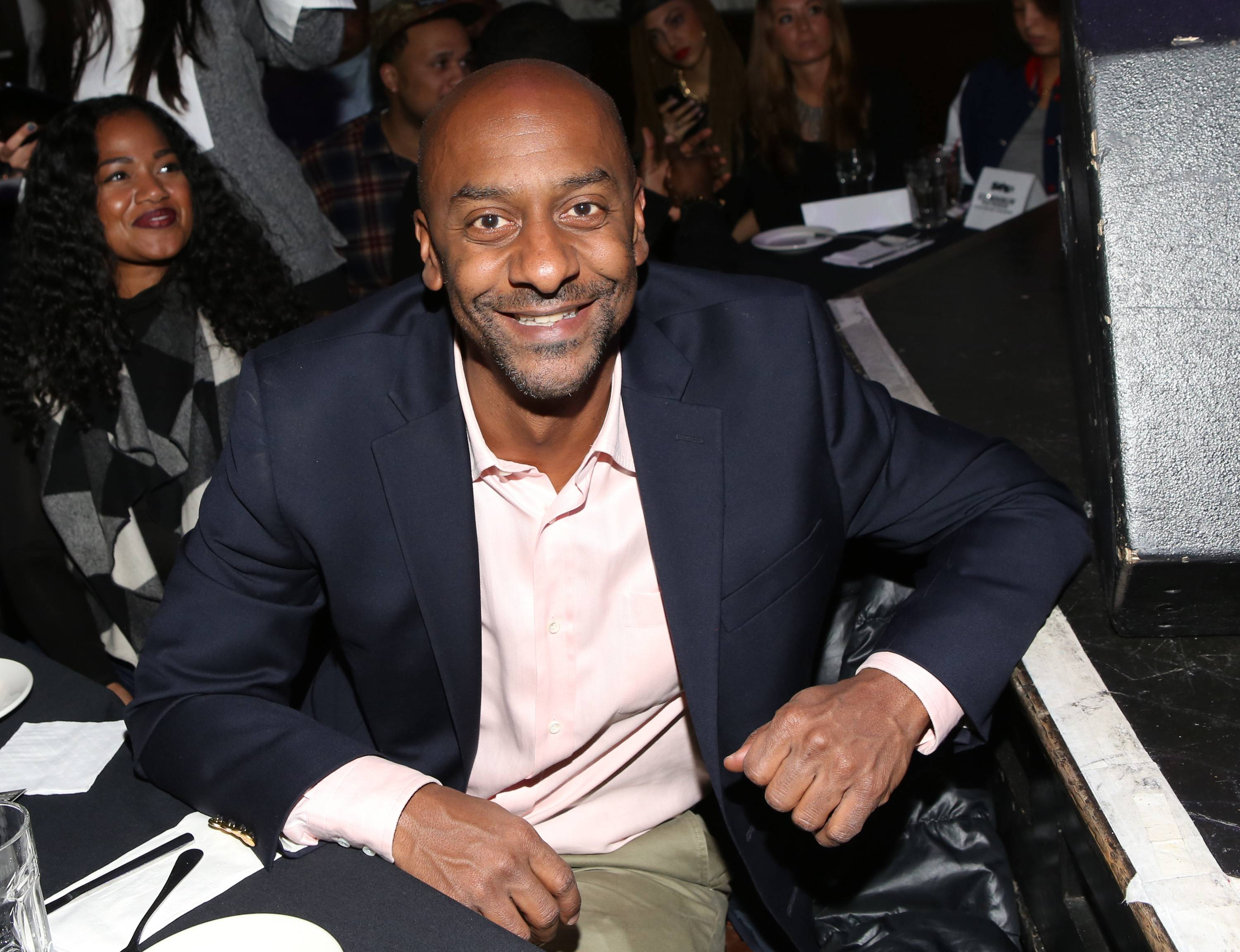 All Together Now - The whole BET team is behind this music movement. BET SVP of Music Programming Stephen Hill stops by the December showcase to check out the next cluster of stars.(Photo: Bennett Raglin/BET/Getty Images for BET)
