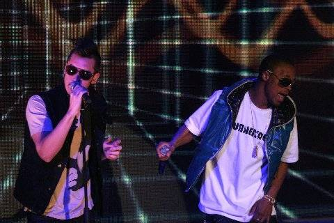 """Lupe and Matt Santos - The duo rocked the stage with a performance of """"Superstar""""."""