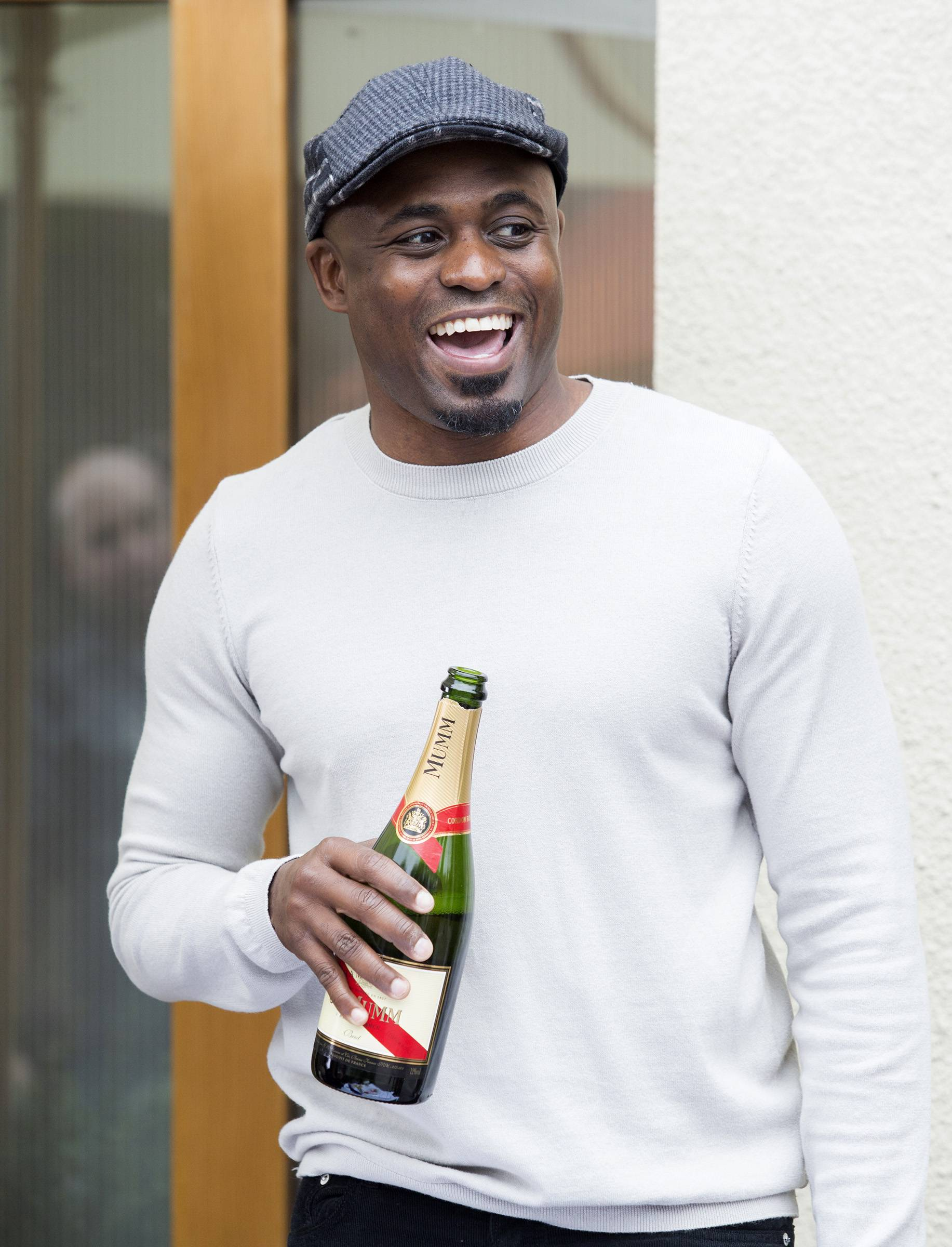 He's still celebrating even though he didn't get his dream role. - (Photo: BET)