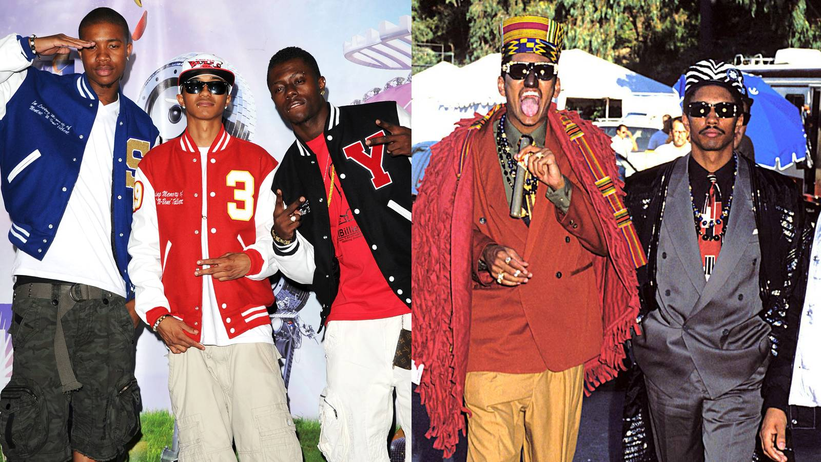 Cali Swag District & Digital Underground - It's 2012 and Cali Swag District is poppin', but they must realize that without the hot music and moves of Digital Underground.(Photos: Jason Merritt/Getty Images; Jeff Kravitz/FilmMagic, Inc/Getty Images)