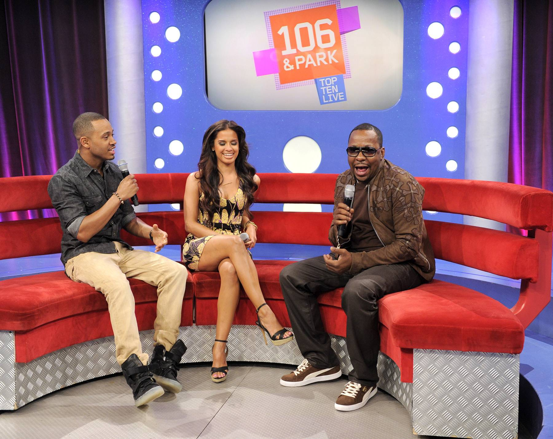 Love My Music - Brown says Johnny Gill and Bobby Brown Jr are featured on the album at106 & Park, May 29, 2012. (Photo: John Ricard / BET)