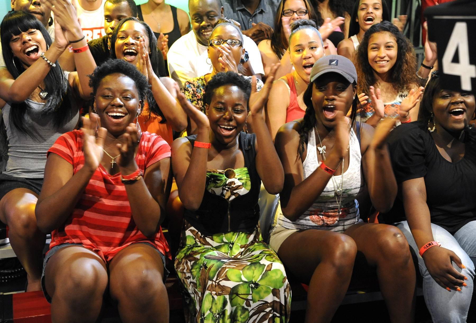 Hey Yall - Audience members at 106 & Park, May 29, 2012. (Photo: John Ricard / BET)