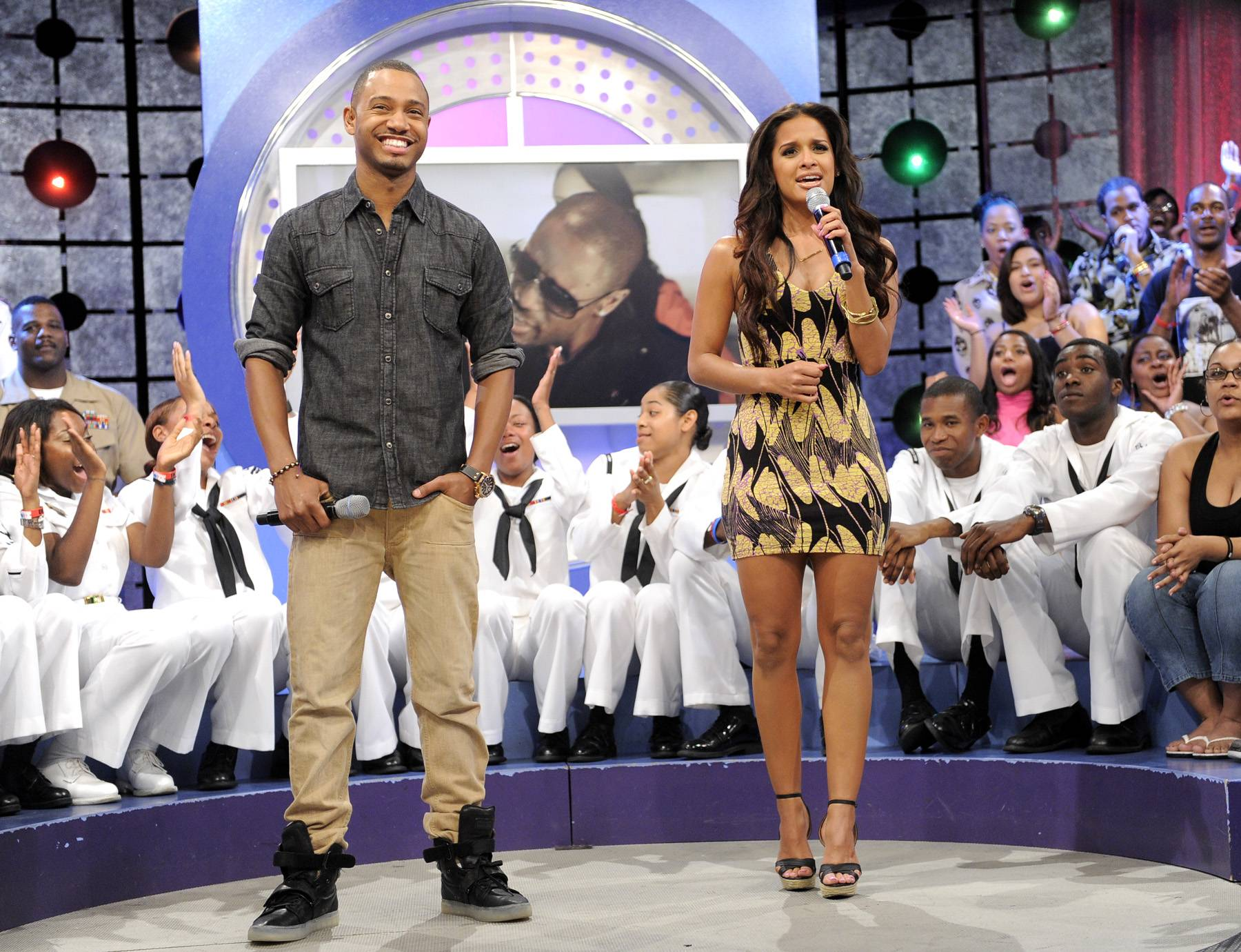 Lets Get It Started - Terrence J and Rocsi Diaz at 106 & Park, May 29, 2012. (Photo: John Ricard / BET)
