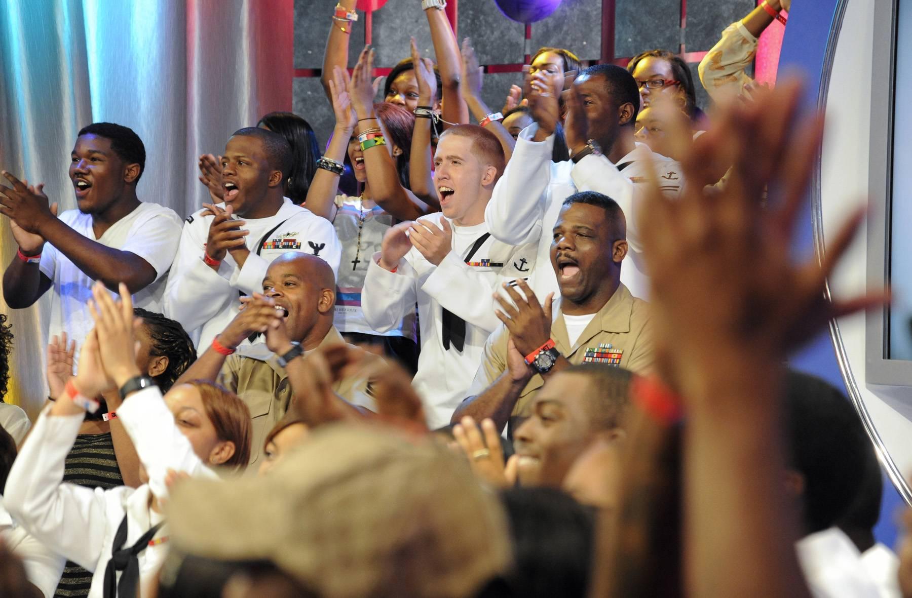 Whoa - Audience members at 106 & Park, May 29, 2012. (Photo: John Ricard / BET)