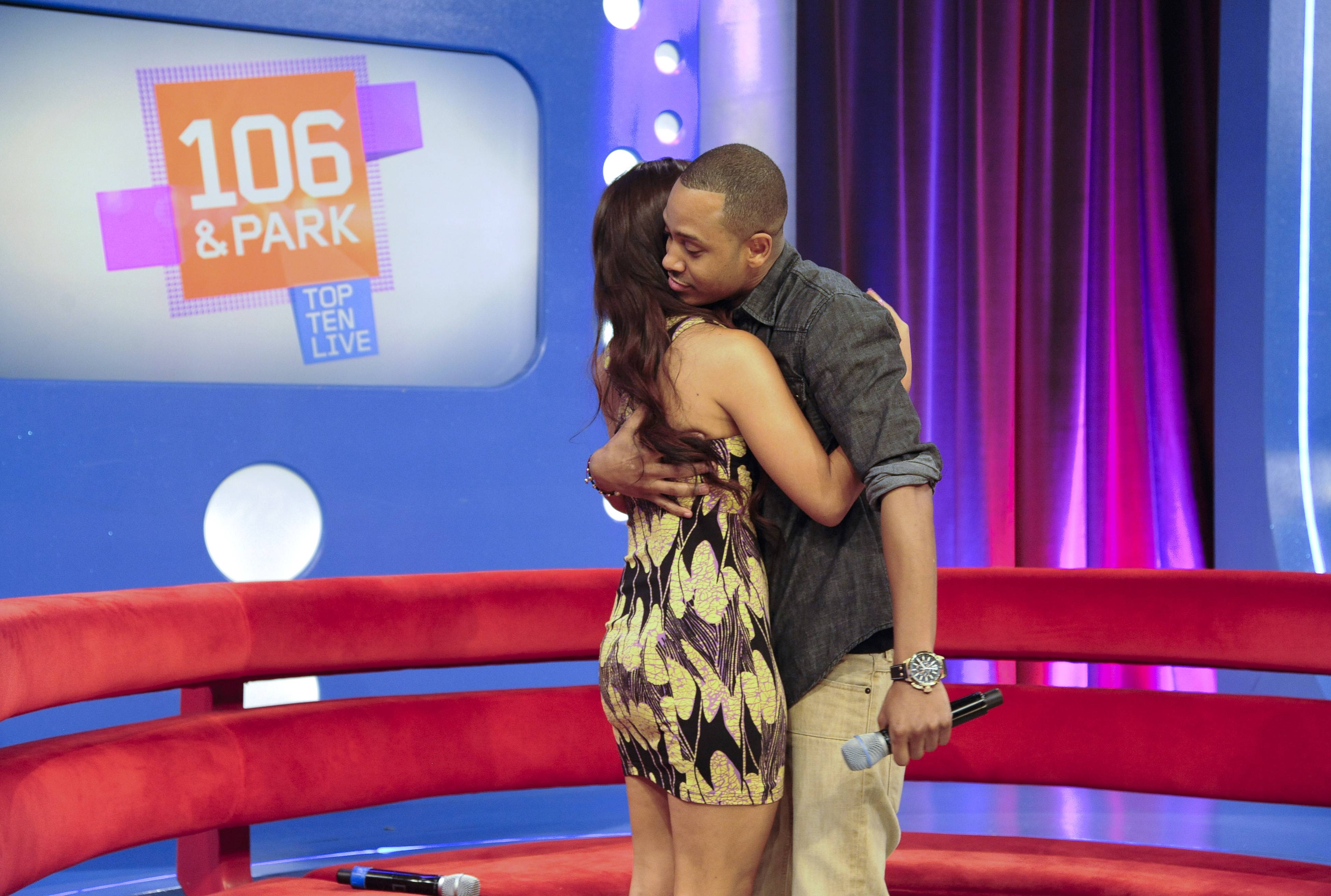 One Love - Terrence J and Rocsi Diaz announce they will be leaving the show in the near future at 106 & Park, May 29, 2012. (Photo: John Ricard / BET)