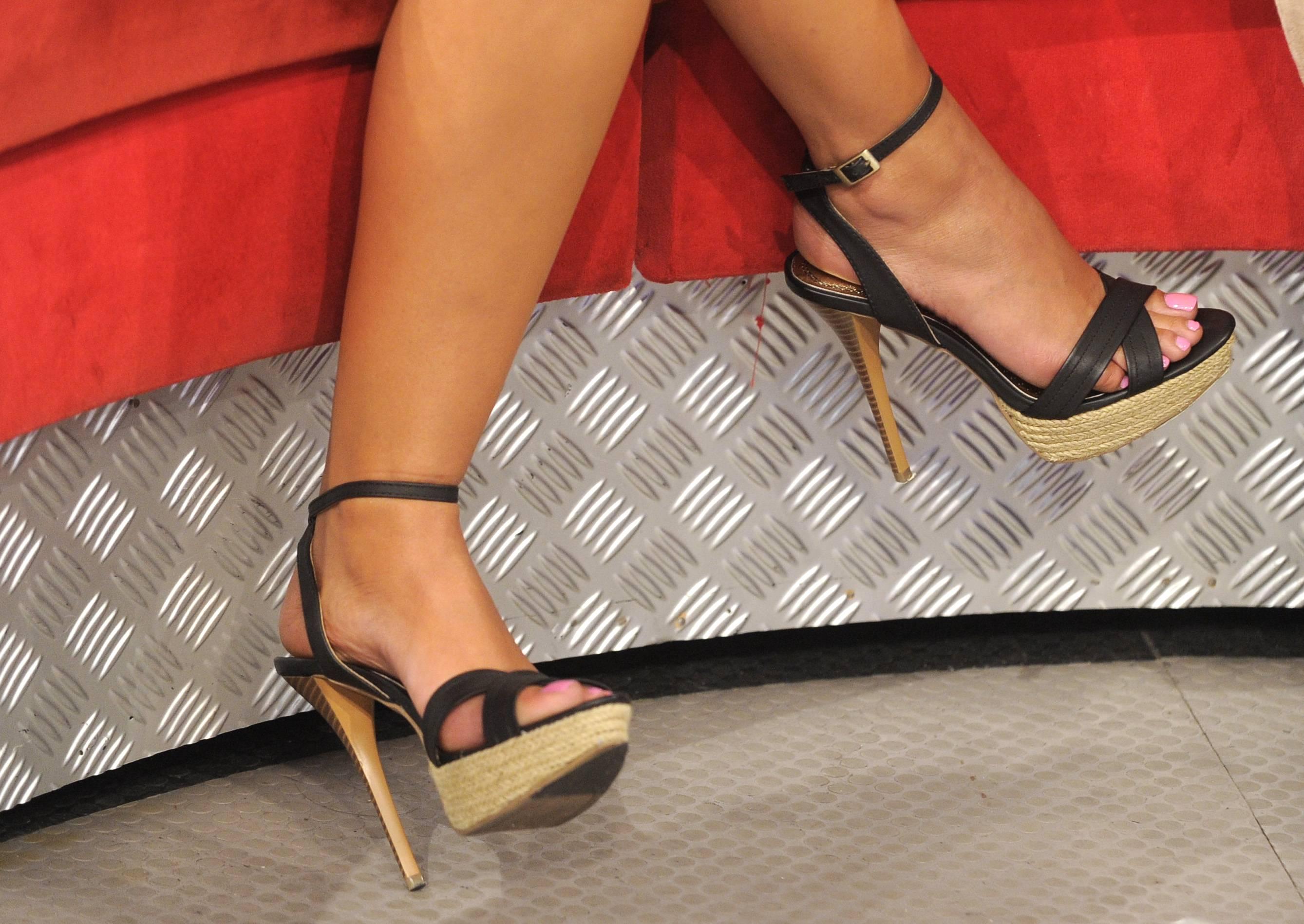 Nice shoes - Rocsi Diaz at 106 & Park, May 29, 2012. (Photo: John Ricard / BET)