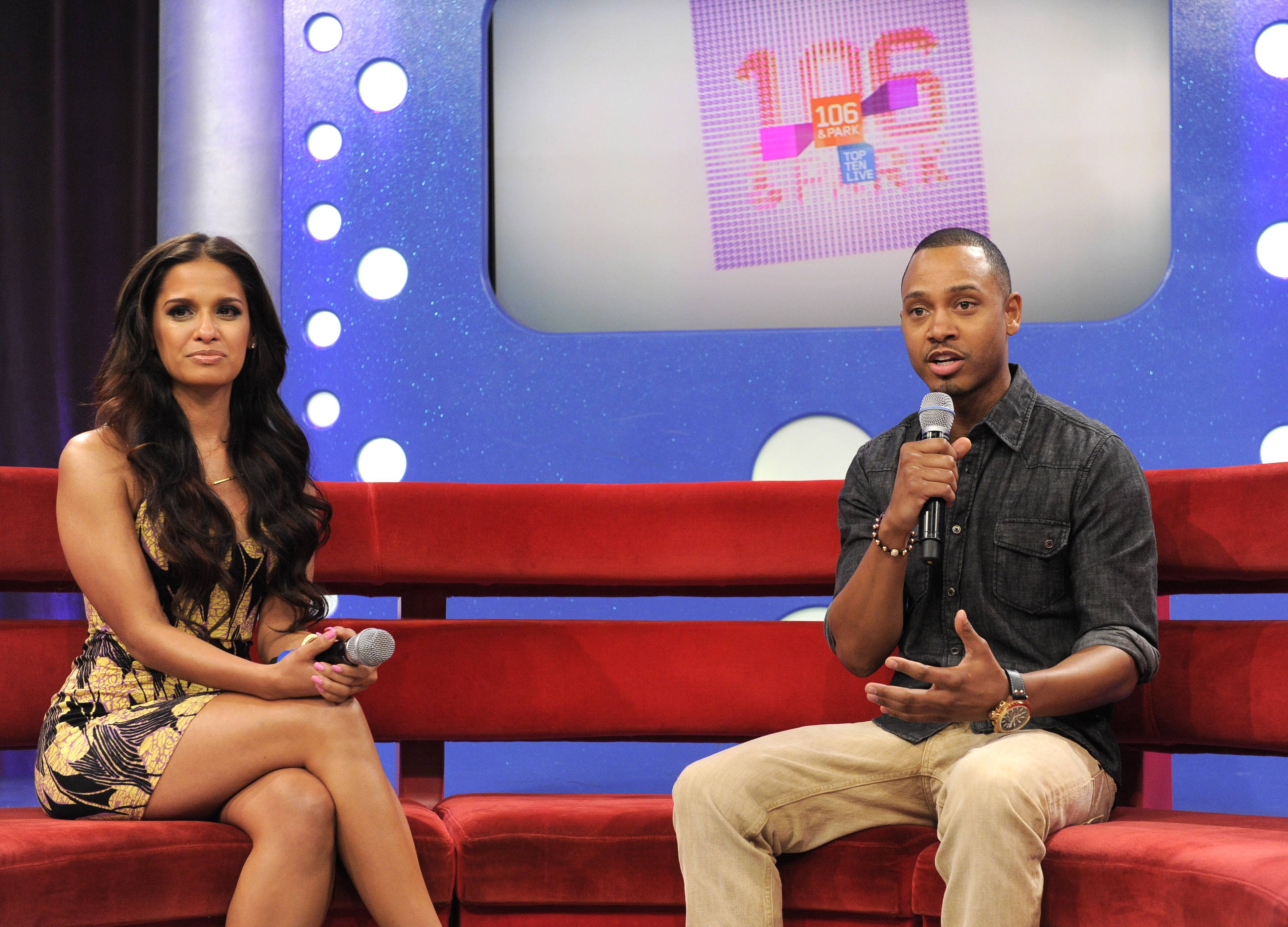 Fresh Faces - Terrence J and Rocsi Diazannounce that they will be leaving the show in the near future at 106 & Park, May 29, 2012. (Photo: John Ricard / BET)
