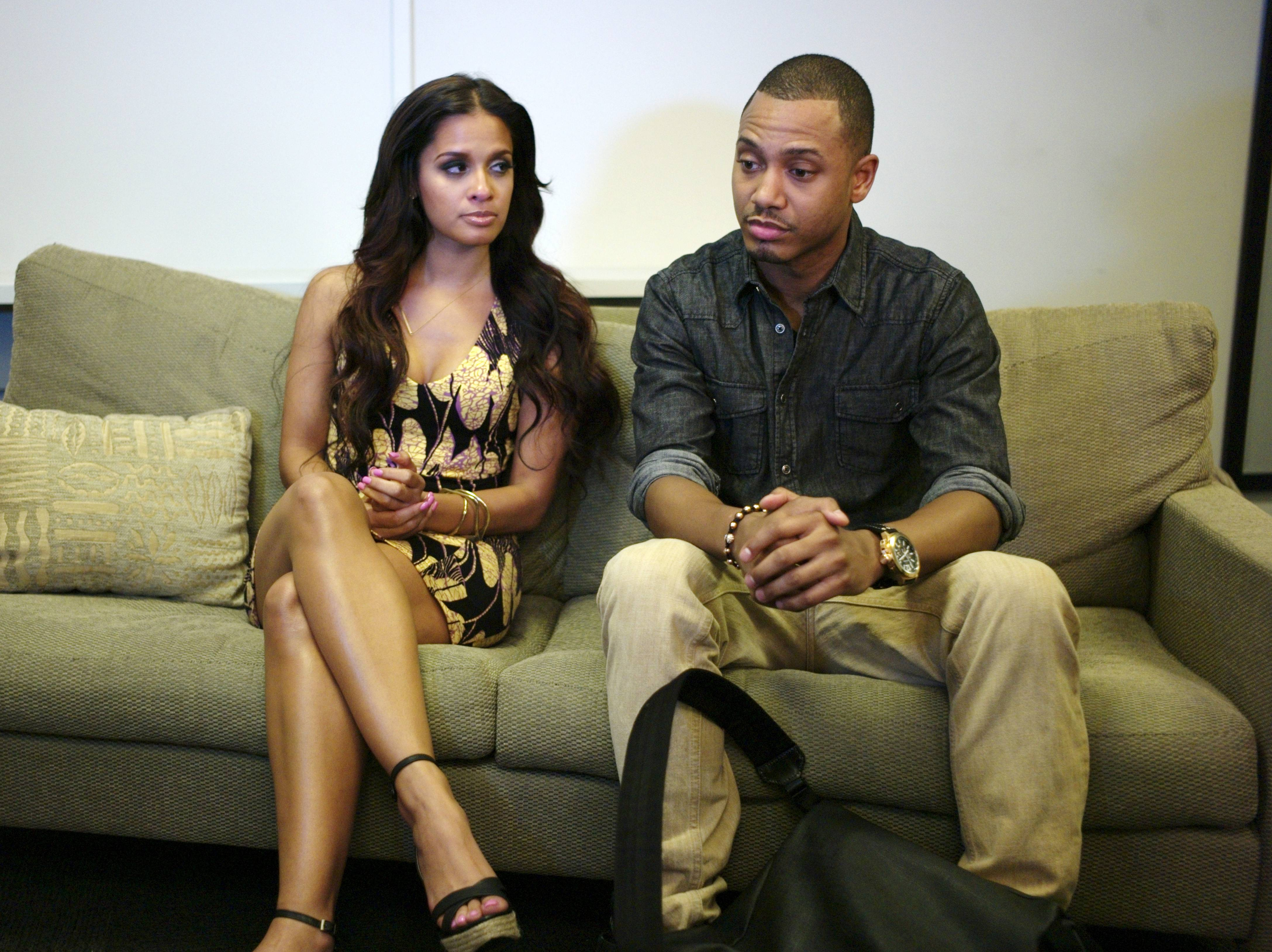 Talk To Me - Terrence J and Rocsi Diaz talk to BET.com about their special announcement at 106 & Park, May 29, 2012. (Photo: John Ricard / BET)