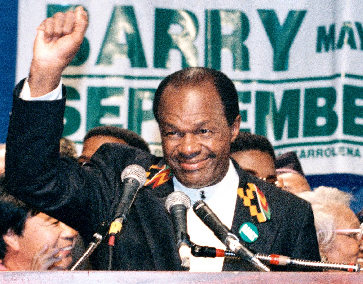 The Comeback Kid - After serving a six-month prison sentence, Barry won a seat on the city council in 1992 and two years later was elected to a fourth term as mayor. But with the city on the verge of bankruptcy, Congress stripped him of most of his power.   (Photo: Ron Thomas/Reuters/Corbis)