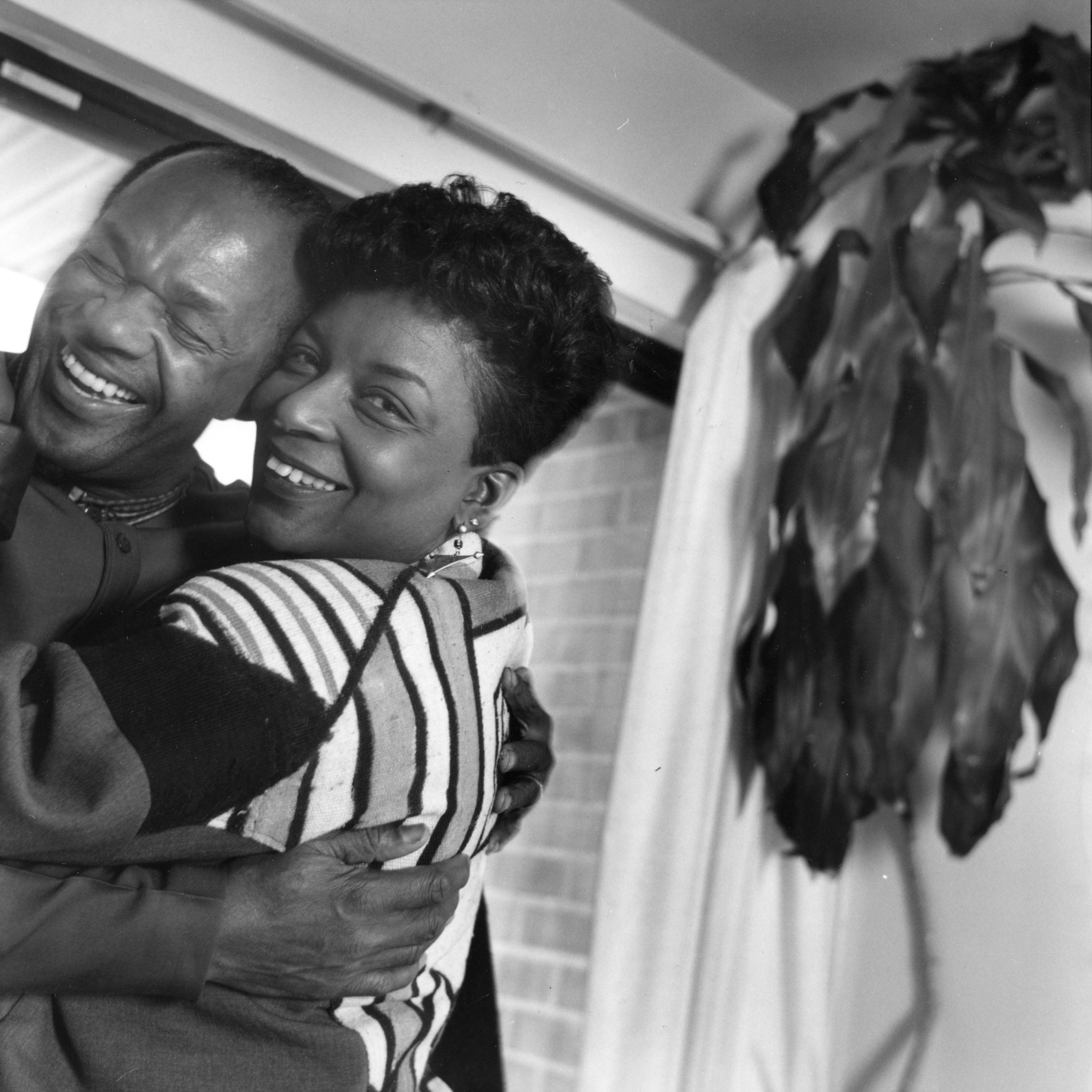 Another Fresh Start - Although estranged at the time of his death, Barry and new wife Cora Masters Barry were very happy on this day in March 1994 as they prepared to move into their new home.   (Photo: Keith Jenkins / The Washington Post)
