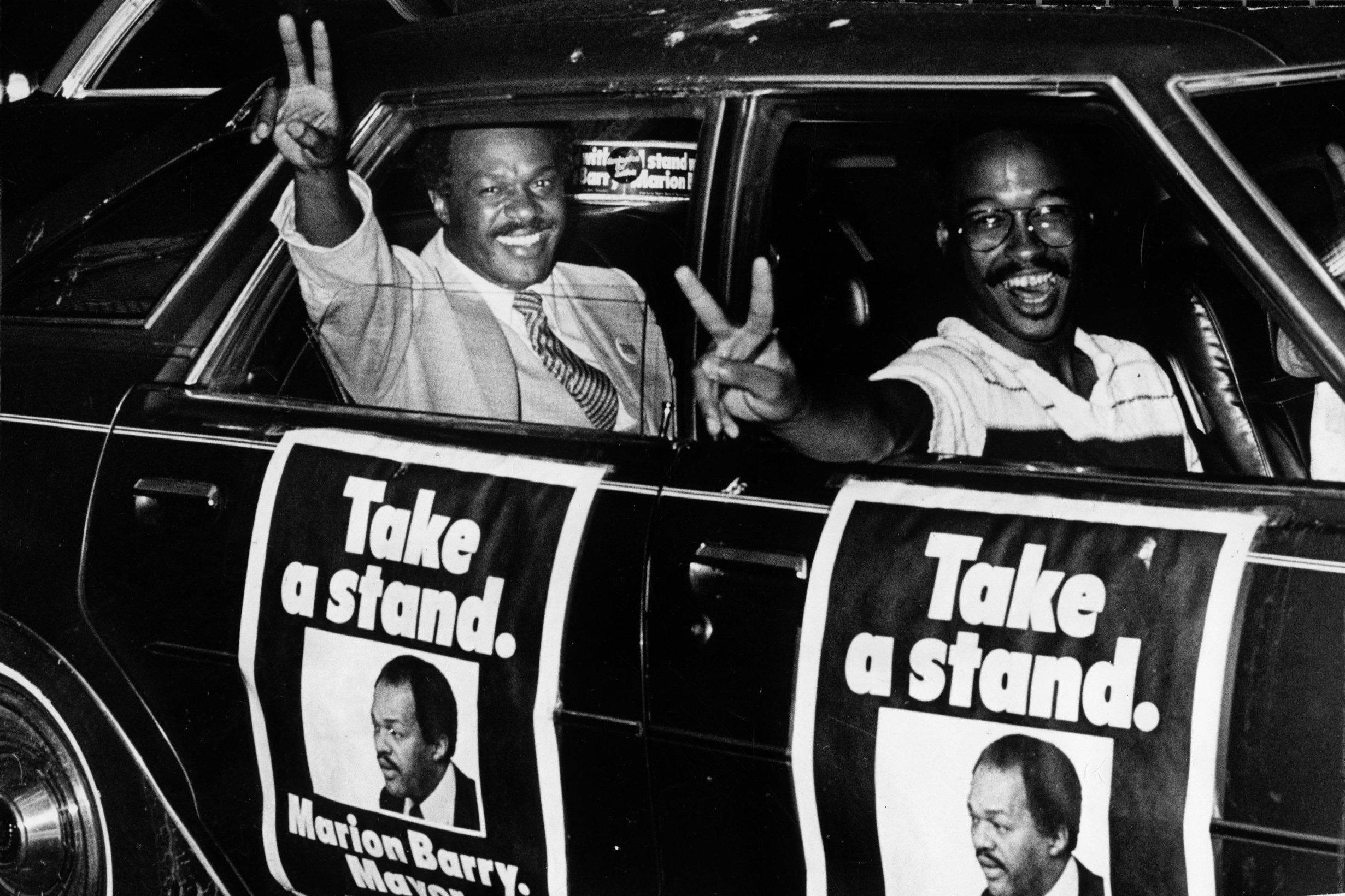Take a Stand - In 1978, Barry asked Washington voters to take a stand. They did, and helped him defeat incumbent Mayor Walter Washington.   (Photo: James A. Parcell/The Washington Post via Getty Images)