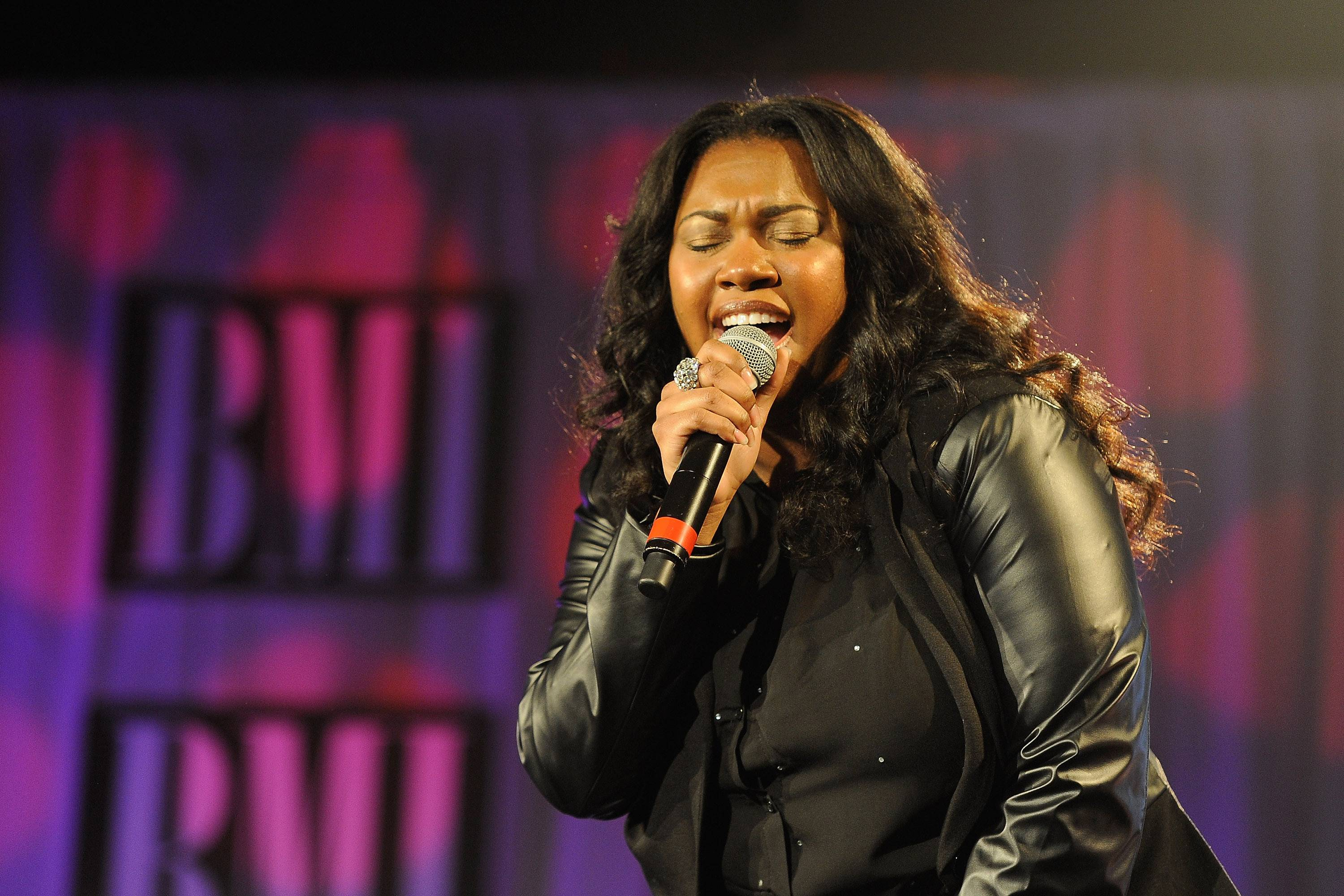 Whatchu Know About Ms. Knowles?  - Lisa Knowles rocks the stage with her soulful performances that provide a dose of Southern flair. She and the Brown Singers have and continue to create tons of great uplifiting music together. (Photo: Erika Goldring/Getty Images)