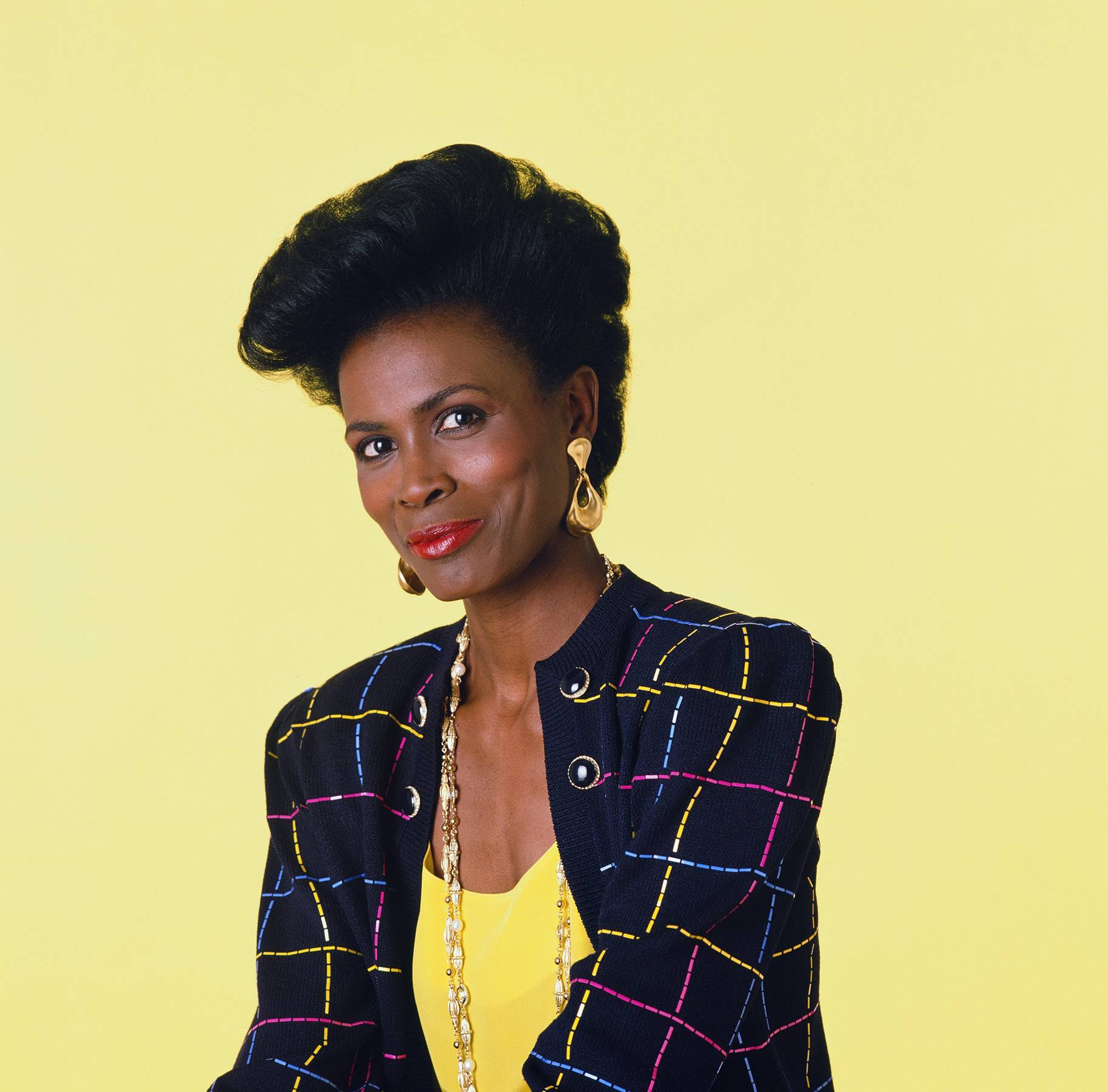 Janet Hubert - As Vivian Banks, the aunt of The Fresh Prince of Bel Air's Will Smith, actress Janet Hubert brought, elegance, style and know-it-all sass to her role as mom of the Banks clan. Like Rashad before her, Hubert proved that upper middle class Black moms could have and do it all; juggle a family, successful career and enjoy a loving relationship with her professional husband.  (Photo: Chris Cuffaio/NBCU Photo Bank)