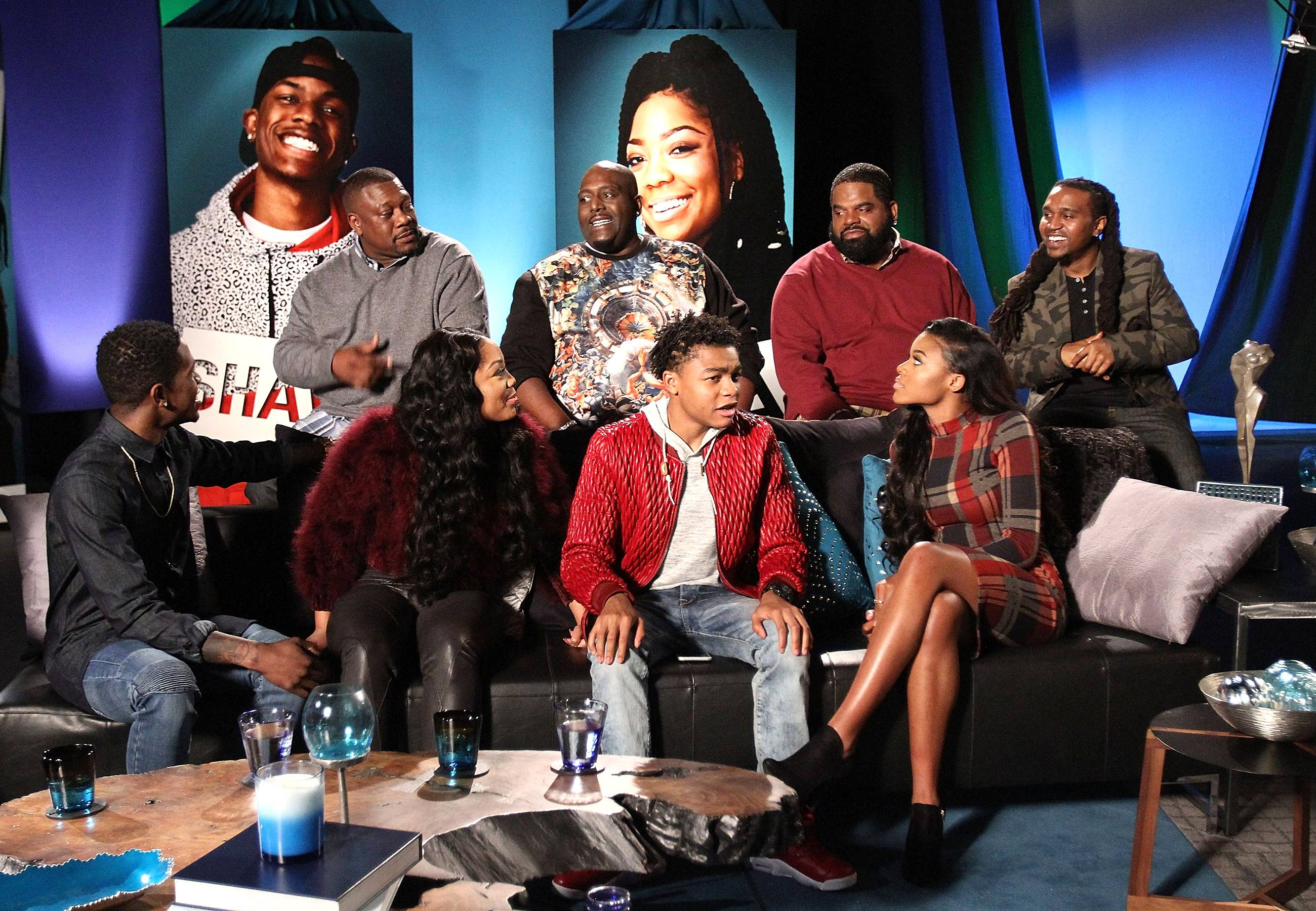 The Clan in Action - The Nellyville village on the set of the reunion.   (Photo: Maury Phillips/WireImage)